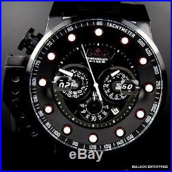 Mens Invicta I Force Bomber Chronograph Black Stainless Steel 50mm Watch New