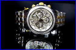 Mens Invicta Ocean Prestige. 80ctw Diamonds Meteorite Dial Swiss Movt Watch New