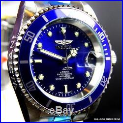 Mens Invicta Pro Diver Steel Silver Blue Coin Bezel NH35A Automatic Watch New