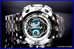 Mens Invicta Reserve Venom Hybrid Master Calendar Silver Tone Blue Watch New