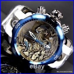 Mens Invicta Reserve Venom Koi Fish Swiss White Silicone 52mm Blue Watch New