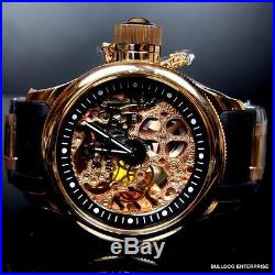 Mens Invicta Russian Diver 18kt Rose Gold Plated Mechanical Skeleton Watch New