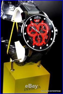 Mens Invicta S1 Rally 48mm Multifunction Red Black Chronograph Nylon Watch New