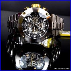 Mens Invicta S1 Rally Silver Gold Tone Steel Twisted Metal Chronograph Watch New