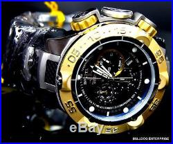 Mens Invicta Subaqua Noma V Gold Plated Black Silver Chronograph Swiss Watch New