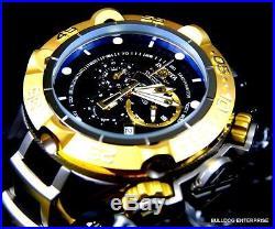 Mens Invicta Subaqua Noma V Gold Plated Black Silver Chronograph Swiss Watch New