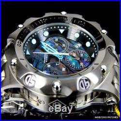 Mens Invicta Venom Hybrid Blue Green Abalone Chronograph 54mm Steel Watch New