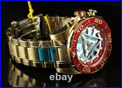 NEW Invicta 48mm Marvel IRON MAN Limited Edition Arc Reactor Dial 18KGIP Watch