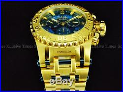 NEW Invicta 52mm Men's LE GOLD OUT JASON TAYLOR CHAOS Ronda Chronograph SS Watch