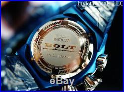NEW Invicta 52mm Men's THUNDERBOLT Swiss Chronograph Sapphire Blue Tone SS Watch