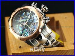 NEW Invicta 52mm Men's Venom Swiss Quartz Chrono Abalone Dial SS Bracelet Watch