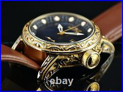 NEW Invicta 52mm Men's Vintage Excalibur Scrollwork Automatic Black MOP SS Watch