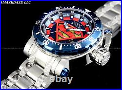 NEW Invicta DC Comics Men 52mm SUPERMAN 24J Automatic Coalition Forces SS Watch