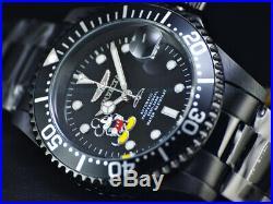 NEW Invicta Disney Men's 40mm Pro Diver Lim. Ed. Automatic Triple Black IP Watch