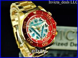 NEW Invicta Marvel Men's 48mm IRON MAN Chrono Limited Edition Gold Tone SS Watch