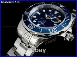 NEW Invicta Men 47mm GRAND DIVER Automatic BLUEE DIAL Stainless Steel 300M Watch