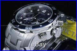 NEW Invicta Men 48 MM Pro Diver Scuba Blue Dial Chronograph S. S Bracelet Watch