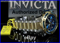 NEW Invicta Men 48mm SPEEDWAY SCUBA Chronograph Sapphire Blue Two Tone SS Watch