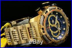 NEW Invicta Men 50MM Speedway VIPER Gen III 18 K G. P Chrono Blue Dial S. S Watch
