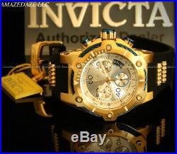 NEW Invicta Men 50mm Bolt Swiss Ronda Z60 Chronograph 18K GP Stainless St Watch