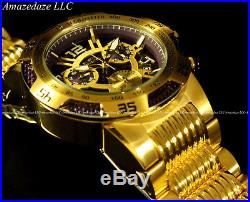 NEW Invicta Men 50mm Speedway Swiss Z60 Chronograph Gold Plat Stainless St. Watch