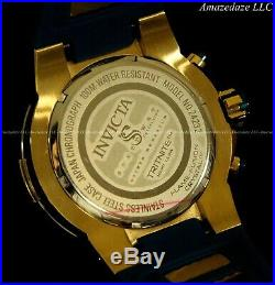 NEW Invicta Men 50mm Speedway ViperII Chronograph Gold Plated Stainless St Watch
