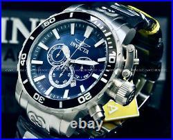 NEW Invicta Men 52MM CORDUBA IBIZA Chronograph BLUE DIAL Silver Tone S. S Watch