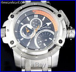 NEW Invicta Men 52mm Silver Tone Stainless RETROGRADE DAY COALITION FORCES Watch