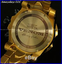 NEW Invicta Men 52mm Venom Swiss Chronograph 18K Gold Plated Stainless St. Watch