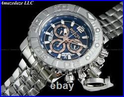 NEW Invicta Men 70mm SEA HUNTER Swiss Chrono Highly Polished SS BLUE DIAL Watch