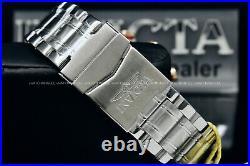 NEW Invicta Men AVIATOR BOLT FLIGHT Rose Gold/Blak Dial Tachy S. S Bracelet Watch