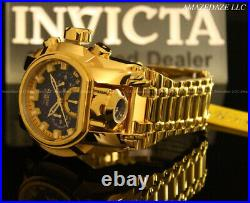 NEW Invicta Men Bolt Zeus Magnum Chronograph 18K Gold Plated Stainless St. Watch