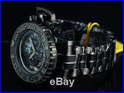 NEW Invicta Men Full Size 70mm Sea Hunter Swiss Chrono Triple Black Combat Watch