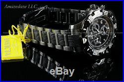 NEW Invicta Men Gun Metal Stainless St. VD53 Chronograph Python Black Dial Watch