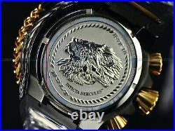 NEW Invicta Men Hercules Reserve 56mm Bolt Swiss Chronograph BLACK DIAL SS Watch