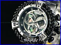 NEW Invicta Men Hercules Reserve 56mm Swiss Chronograph BLACK MOP DIAL SS Watch