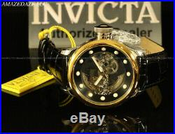 NEW Invicta Men Mechanical Skeleton Russian Diver18K Gold IP Stainless St. Watch