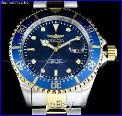 NEW Invicta Men Pro Diver SUBMARINER Blue Dial 2 Tone Stainless Steel 200M Watch