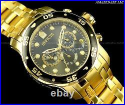 NEW Invicta Men Pro Diver Scuba Chronograph Stainless Steel Charcoal Dial Watch
