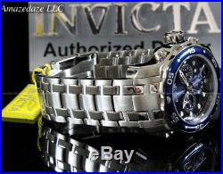 NEW Invicta Men Pro Diver Scuba VD53 Chronograph Stainless Steel Blue Dial Watch