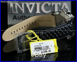 NEW Invicta Men S1 48mm Swiss Ronda Z60 Chrono Stainless St. Leather Strap Watch