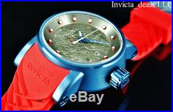 NEW Invicta Men S1 Yakuza DRAGON Automatic NH35A Silver Dial Blue & Red SS Watch