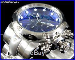 NEW Invicta Men Venom Swiss RondaZ60 Chronograph Stainless Steel Blue Dial Watch