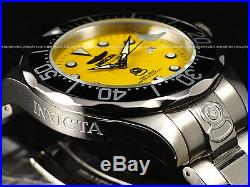 NEW Invicta Men's 300M Grand Diver Automatic Yellow Dial Stainless Steel Watch