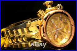 NEW Invicta Men's 46MM Venom Swiss Movt Chrono 18K Gold Plated High Polish Watch