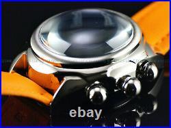 NEW Invicta Men's 46mm Grand LUPAH OVALE Japan Chronograph Orange / Blue Watch