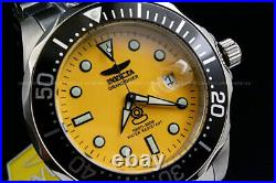 NEW Invicta Men's 47MM Grand Diver AUTOMATIC NH35 Yellow Dial S. S Bracelet Watch