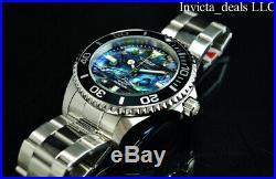 NEW Invicta Men's 47mm PRO DIVER Quartz DIAMOND Abalone Dial Silver Tone Watch