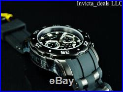 NEW Invicta Men's 48mm PRO DIVER SCUBA COMBAT TRIPLE BLACK Stainless Steel Watch