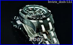NEW Invicta Men's 48mm PRO DIVER SCUBA Chronograph BLACK DIAL Two Tone SS Watch